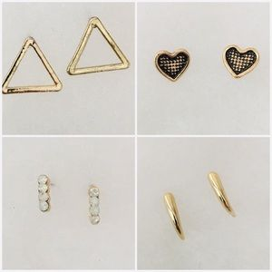 Jewelry - Gold Tone Earring Set -  4 Pairs